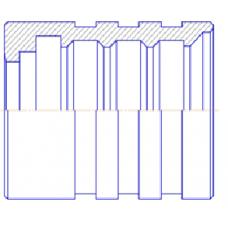 Муфта 1/2 4SP,4SN зачистная